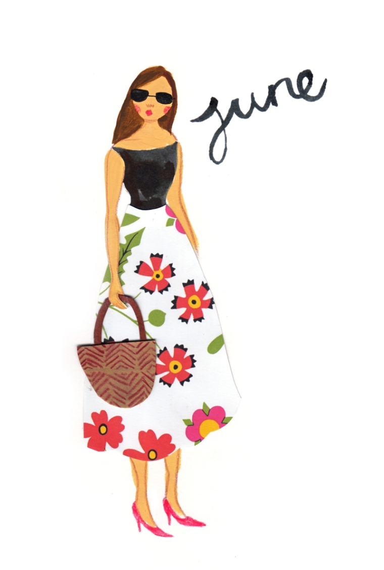 june fashion illustration